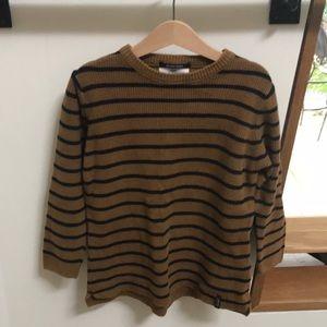 Zara navy and camel knit sweater, size 7